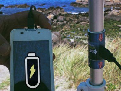 Sombrilla Solar USB, protégete del sol mientras generas energía eléctrica