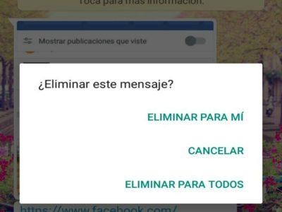 WhatsApp permite borrar mensajes hasta una hora después de enviados