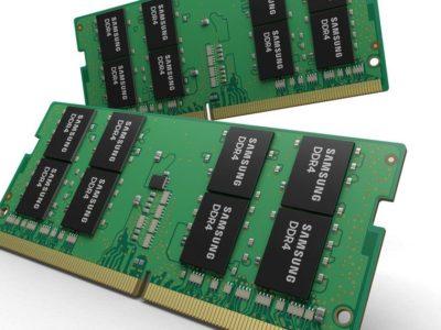 Samsung presenta el primer módulo SO-DIMM de 32 GB de tipo DDR4 para portátiles con chips a 10 nm