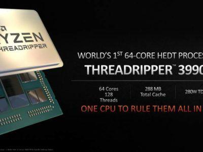 Se prepara para llegar en el 2020 el procesador Ryzen más potente de AMD con 64 núcleos