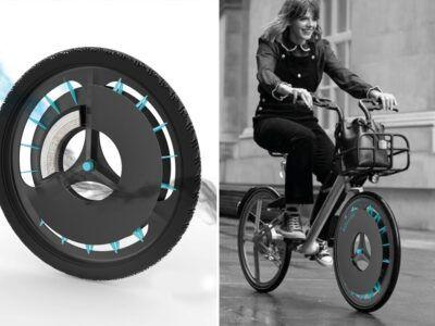 Llegan las ruedas para bicicletas que comen contaminación