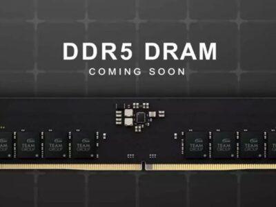 La primera DDR5 de TeamGroup está al llegar, pero solo a 4.800 MHz