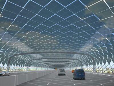 Cubiertas solares para autopistas