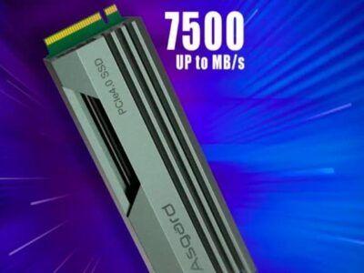 El fabricante chino Asgard lanza su SSD AN4 con una velocidad de hasta 7500 MB/s