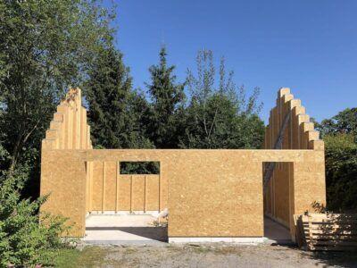 Sistema de construcción de casas de madera tipo LEGO tan fácil como armar un mueble