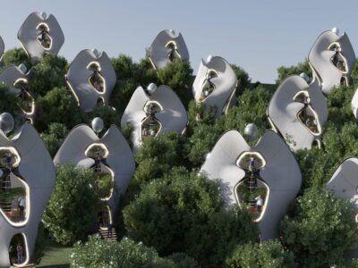 """Estas casas modulares prefabricadas podrían ser las primeras en usar un """"exoesqueleto"""" de acero impreso en 3D"""